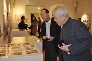 Muzeum Komenského v Přerově navštívili ve středu dva zástupci japonské komeniologické společnosti Shinichi Sohma a  Junzo Inokuchi.
