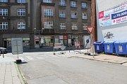 Uzavírka Kainarovy ulice v Přerově