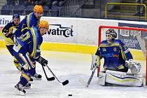 Hokejisté Přerova (ve žlutém) porazili Břeclav.