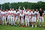 Přerovští Mamuti ve finále 2. ligy amerického fotbalu porazili Prague Black Panthers 35:0 a slavili titul.