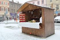 První sníh v Přerově 3. prosince 2020.