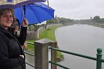 Řeka Bečva v Přerově v pondělí 3. června 2013