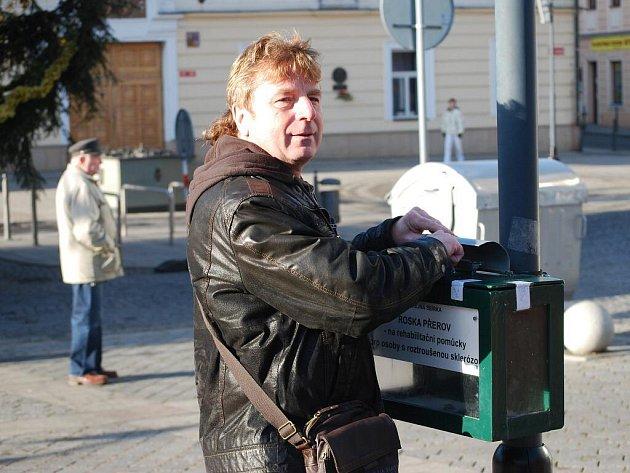 Vánoční kasičky na náměstí T. G. Masaryka v Přerově