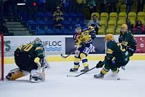 Hokejisté Přerova (ve žlutém) v utkání se Vsetínem. Ilustrační foto