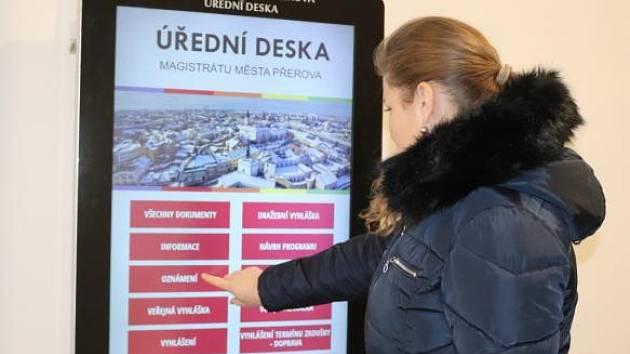 Úřední digitální deska v Přerově