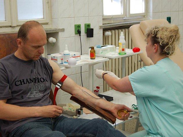 Darování krve v přerovské nemocnici