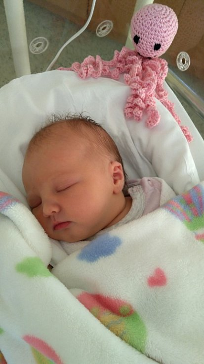 Sofie Vilímková, Hranice, narozena dne 27. září v Přerově, míra: 49 cm, váha: 3362 g