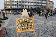 Koberec z přírodnin na náměstí T. G. Masaryka v Přerově