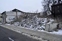Škodova ulice v Přerově, leden 2015
