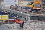 Stavba Tyršova mostu v Přerově