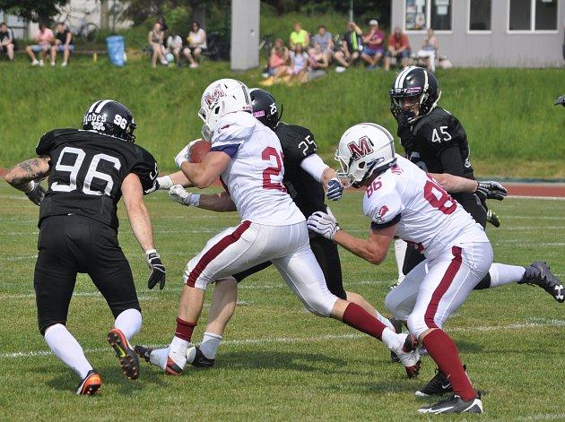 Přerov Mammoths (v bílém) proti Ústí nad Labem Blades (12:14)
