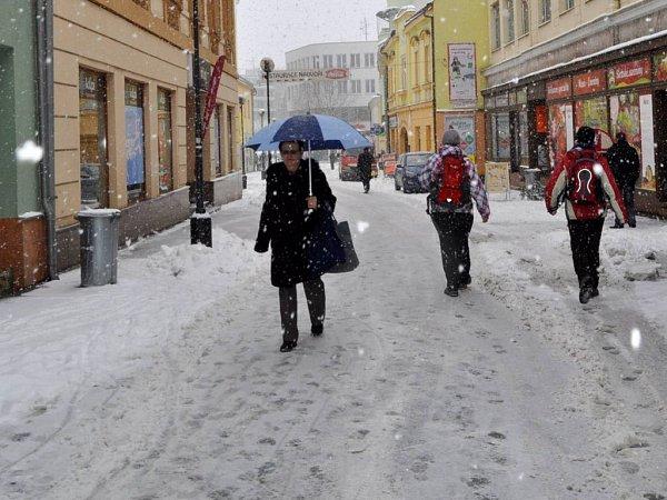 Sněhová nadílka vpřerovských ulicích