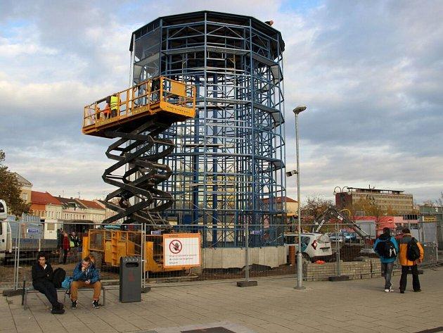Stavba cyklodomu u přerovského nádraží