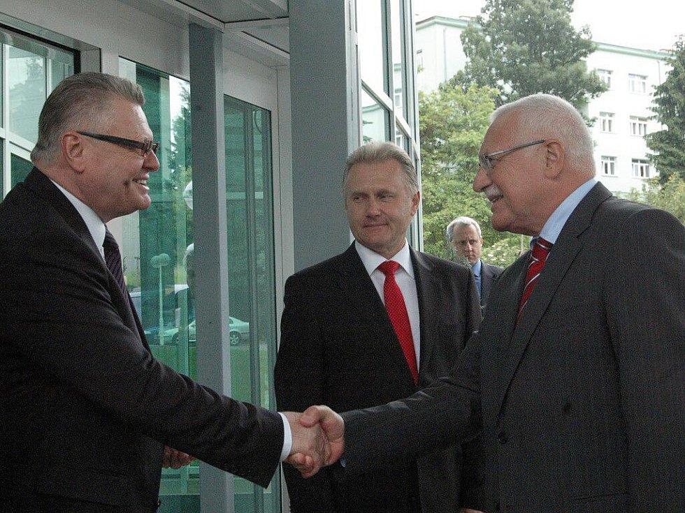 Návštěva prezidentského páru v Přerově