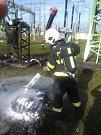 Požár trafostanice v Prosenicích