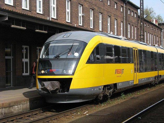 RegioJet na olomouckém hlavním nádraží