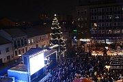 Rozsvěcení vánočního stromu v Přerově