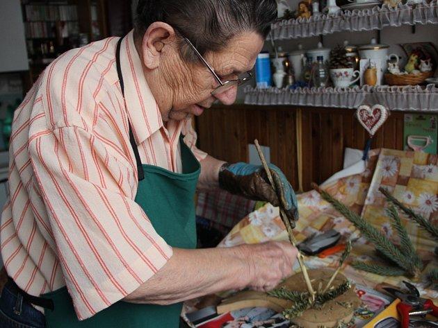 Výrobce ručních kvedlaček Oldřich Molek v akci