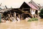 Povodeň v Bochoři v roce 1997 - ulice Drahy
