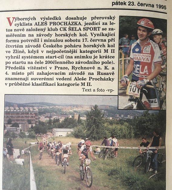 Aleš Procházka patřil ke špičce na horském kole.