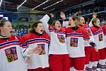 Česko - Finsko. MS hokejistek do 18 let v Přerově