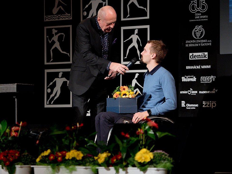 Vyhlášení Sportovce Olomouckého kraje za rok 2019 v Městském domě v Přerově.  Tomáš Pešek