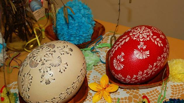 Velikonoční výstav v prostorách Informačního centra v Kainarově ulici v Přerově