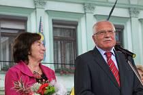Návštěva prezidentského páru na přerovském náměstí