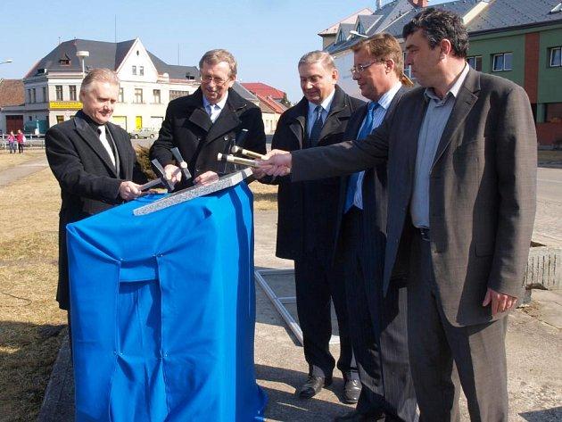 Zahájení výstavby kanalizace a čistírny odpadních vod v Brodku u Přerova