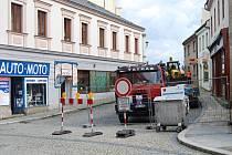 Uzavírka Pivovarské ulice v centru Přerova