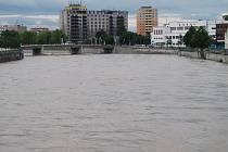 Řeka Bečva v Přerově ve čtvrtek 23.5. 2019 dopoledne