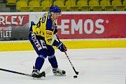 Hokejisté Přerova (ve žlutém) v přípravném utkání proti SK HS Třebíč.