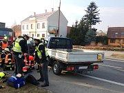 V Oseku nad Bečvou se čelně srazila dodávka a valník