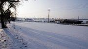 Silné mrazy zastavily stavbu dálnice D1 mezi Přerovem a Lipníkem