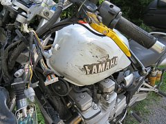 Nehoda motorkáře u Dzbelu