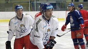 Trénink hokejové reprezentace v Přerově