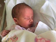 Claudie Kubešová, Hranice, narozena dne 24. srpna v Přerově, míra 49 cm, váha 3420 g