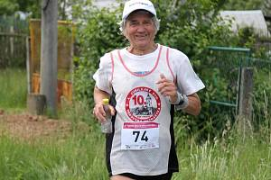 Jiří Březina na maratonu v Zábřehu.