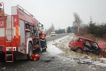 Těžké zranění si vyžádala nehoda, která se stala ve středu ráno mezi Přerovem a Rokytnicí.