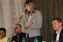 Kontroverzní poslankyně Ivana Řápková (ODS) přijela do Přerova debatovat o změnách v sociální oblasti, které vypuknou od ledna příštího roku