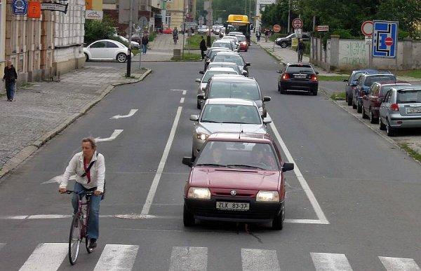 Dopravní zácpy vPřerově - Palackého ulice