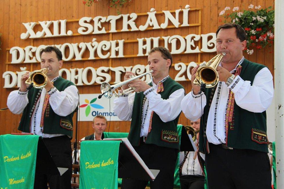 Setkání dechových hudeb v Dřevohosticích