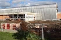 Stavba sportovní haly v Lipníku na začátku října 2017