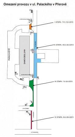 Omezení provozu vulici Palackého vPřerově