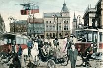 Přerov na pohlednici očima našich předků. Tak si představovali budoucnost svého města.