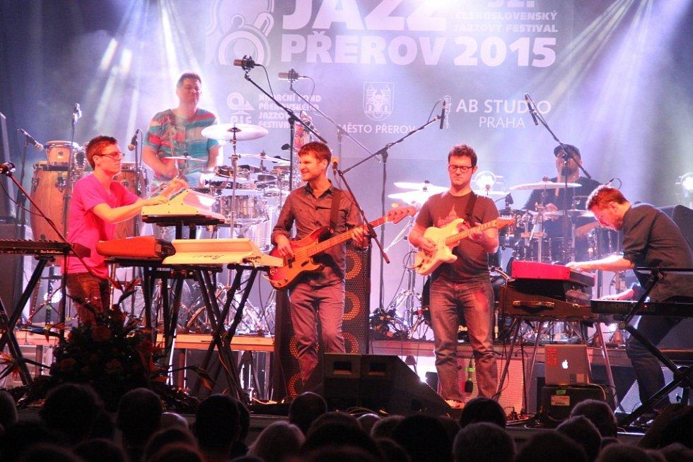 Koncert kapely Snarky Puppy na Československém jazzového festivalu v Přerově