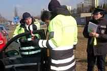 Měření propustnosti autoskel v Polní ulici v Přerově