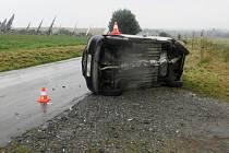 Tragická nehoda u obce Radkovy na Přerovsku