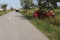 Havárie řidičky vozu Kia u Pavlovic