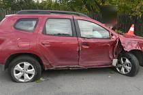 Nehoda opilého řidiče dacie u Citova na Přerovsku.